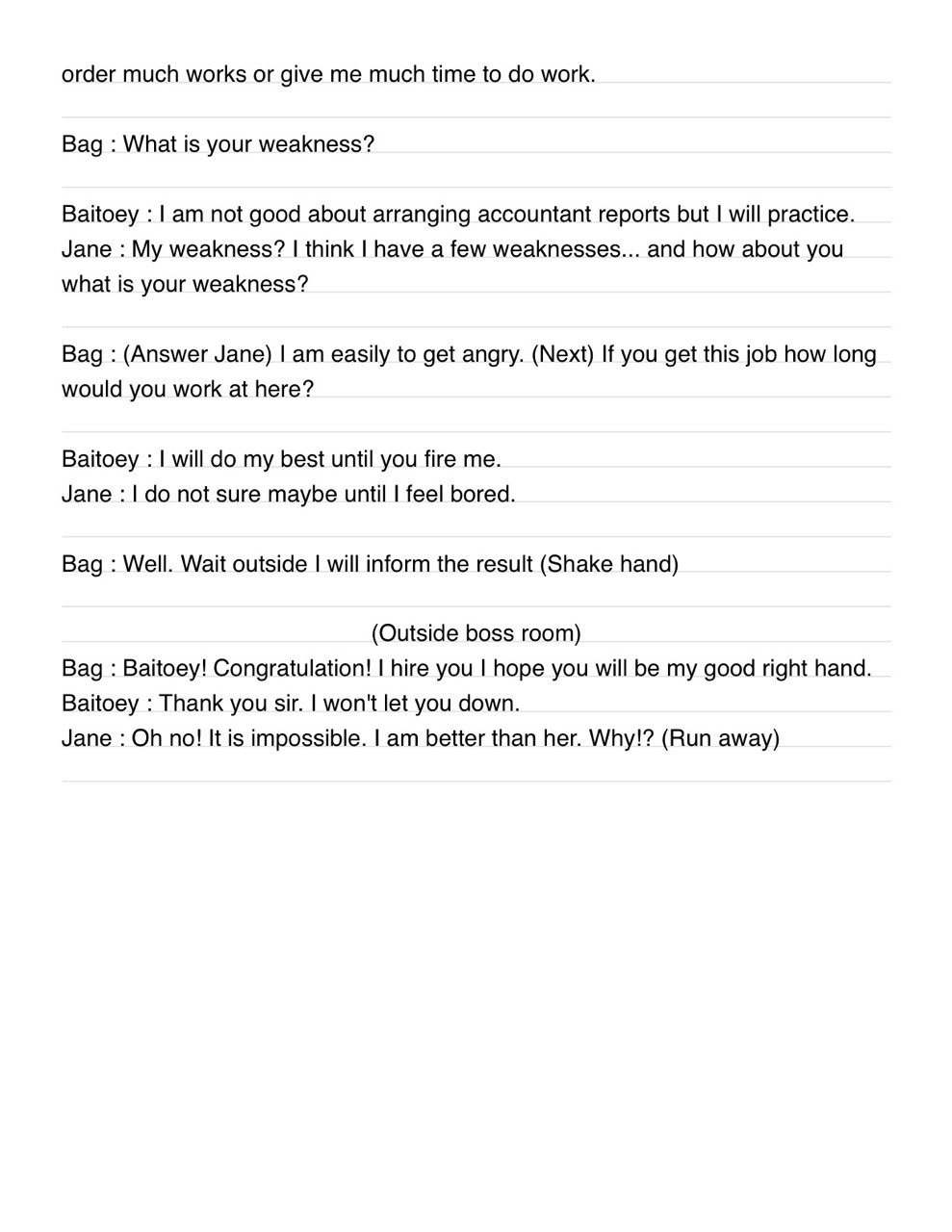 Script Job interview | bbtoeyy's Blog